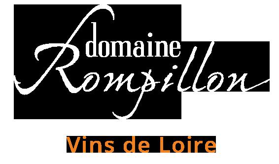 Domaine Rompillon – Vins de Loire – Coteaux du Layon 1er Cru Chaume – Coteaux du Layon Saint Aubin – Crémant de Loire blanc – Crémant de Loire rosé – Anjou Villages – Anjou Rouge – Cabernet d'Anjou – Rosé de Loire – Sauvignon – Anjou Blanc – Saint Lambert du Lattay 49750 VAL DU LAYON Logo
